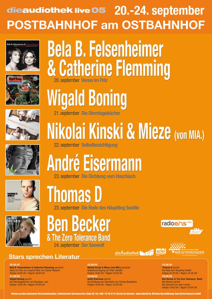 Audiothek Live Plakat